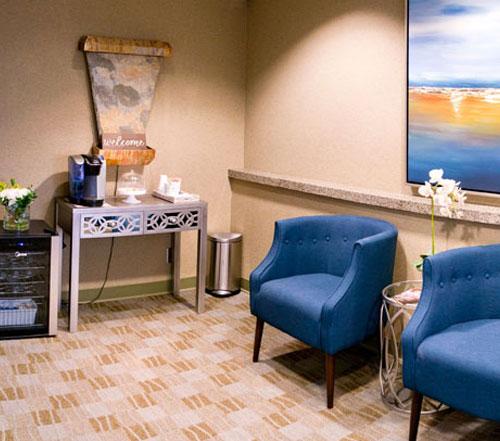 Pacific Coast Dentist, Bellevue WA - waiting area