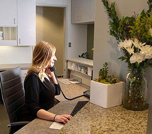 Pacific Coast Dentist, Bellevue WA - reception desk